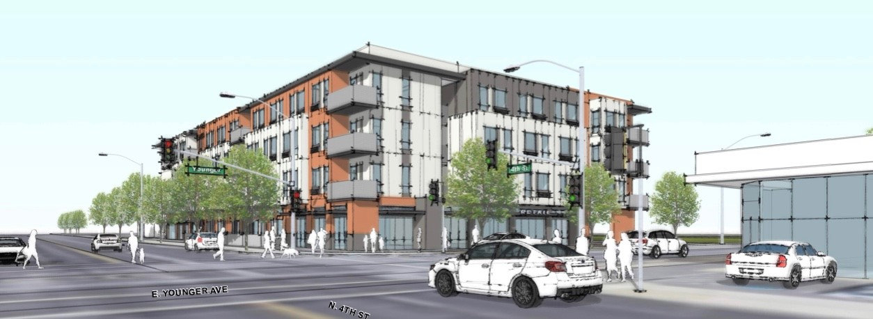 Preliminary rendering of 4th & Younger