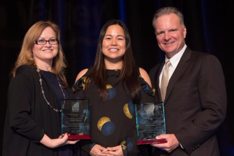Cindy Chavez, Candice Gonzalez, and Dave Cortese