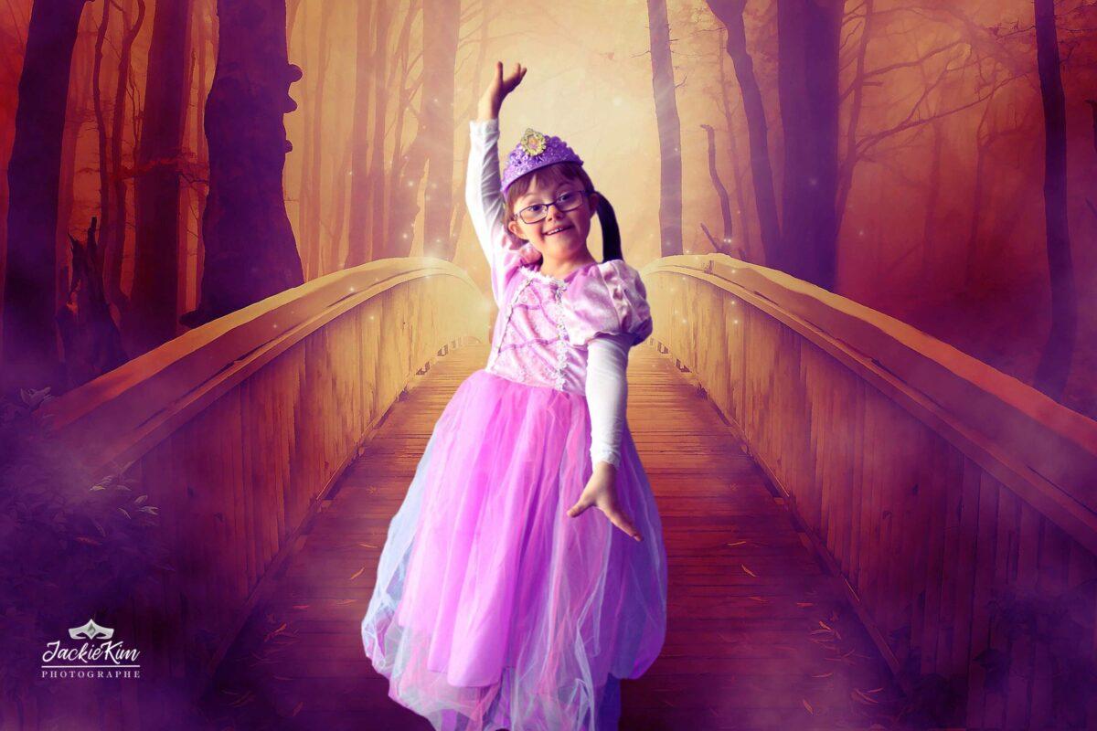 Princesse dans la forêt enchantée