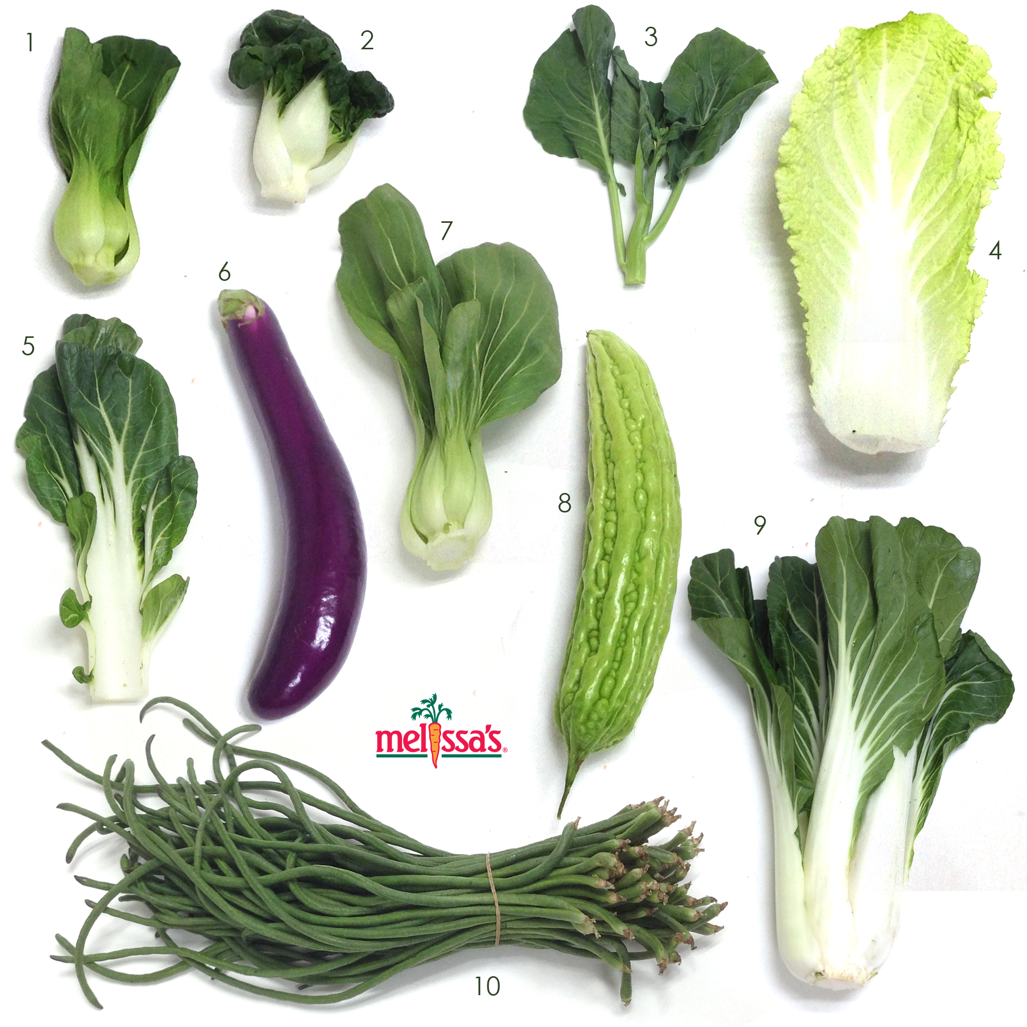 Visual guide to asian vegetables