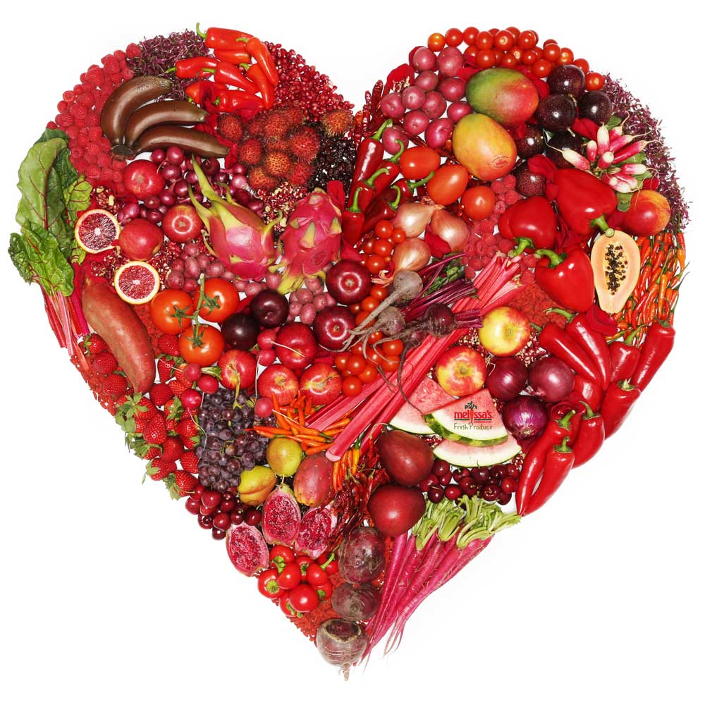 red produce heart for heart health