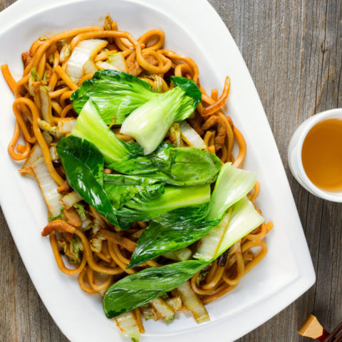 How to Make Fresh Noodles with Bok Choy