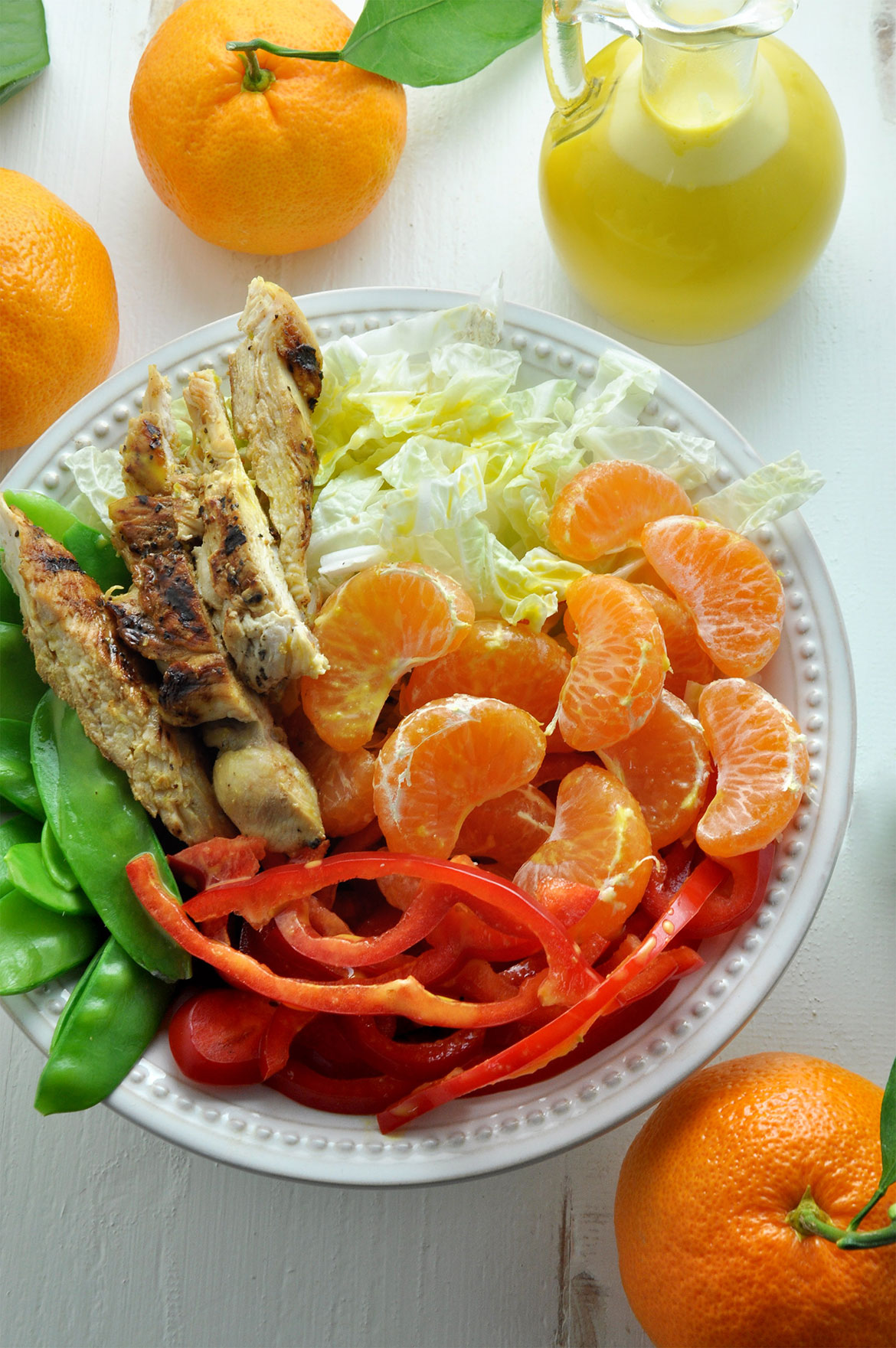 Satsuma橘子鸡肉沙拉