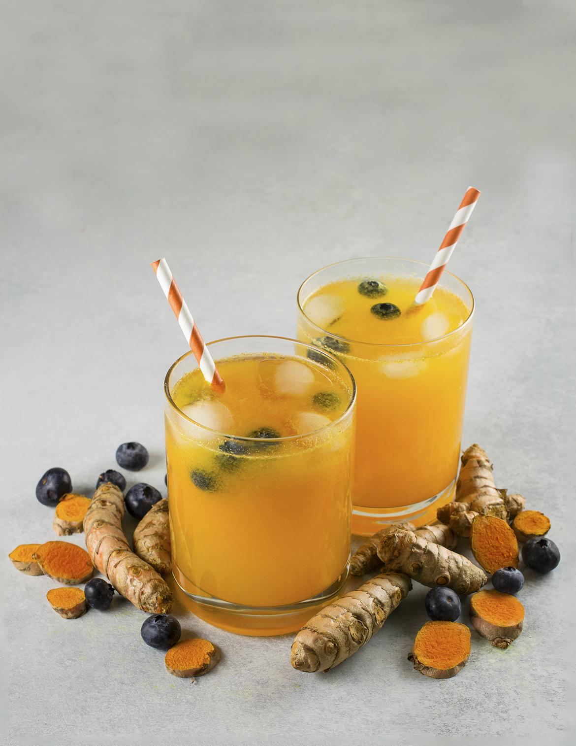 Turmeric Lemonade with Blueberry recipe