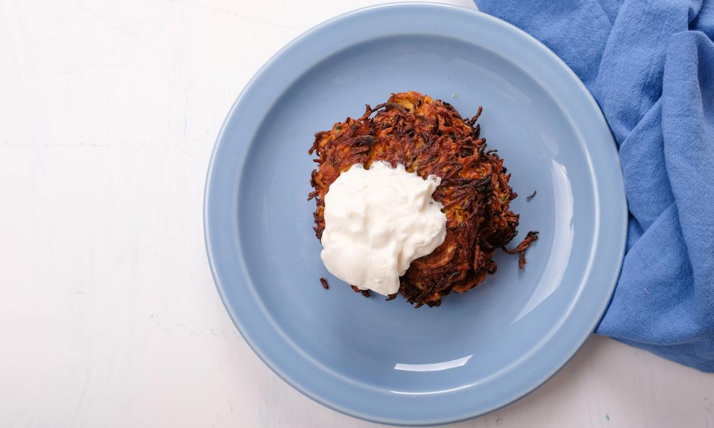 taro root pancakes latkes recipe