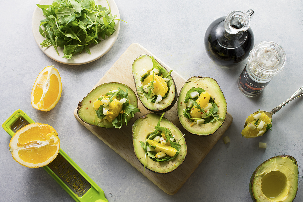 Citrus Salad Stuffed Avocado Cups | An easy, healthy appetizer or light lunch.