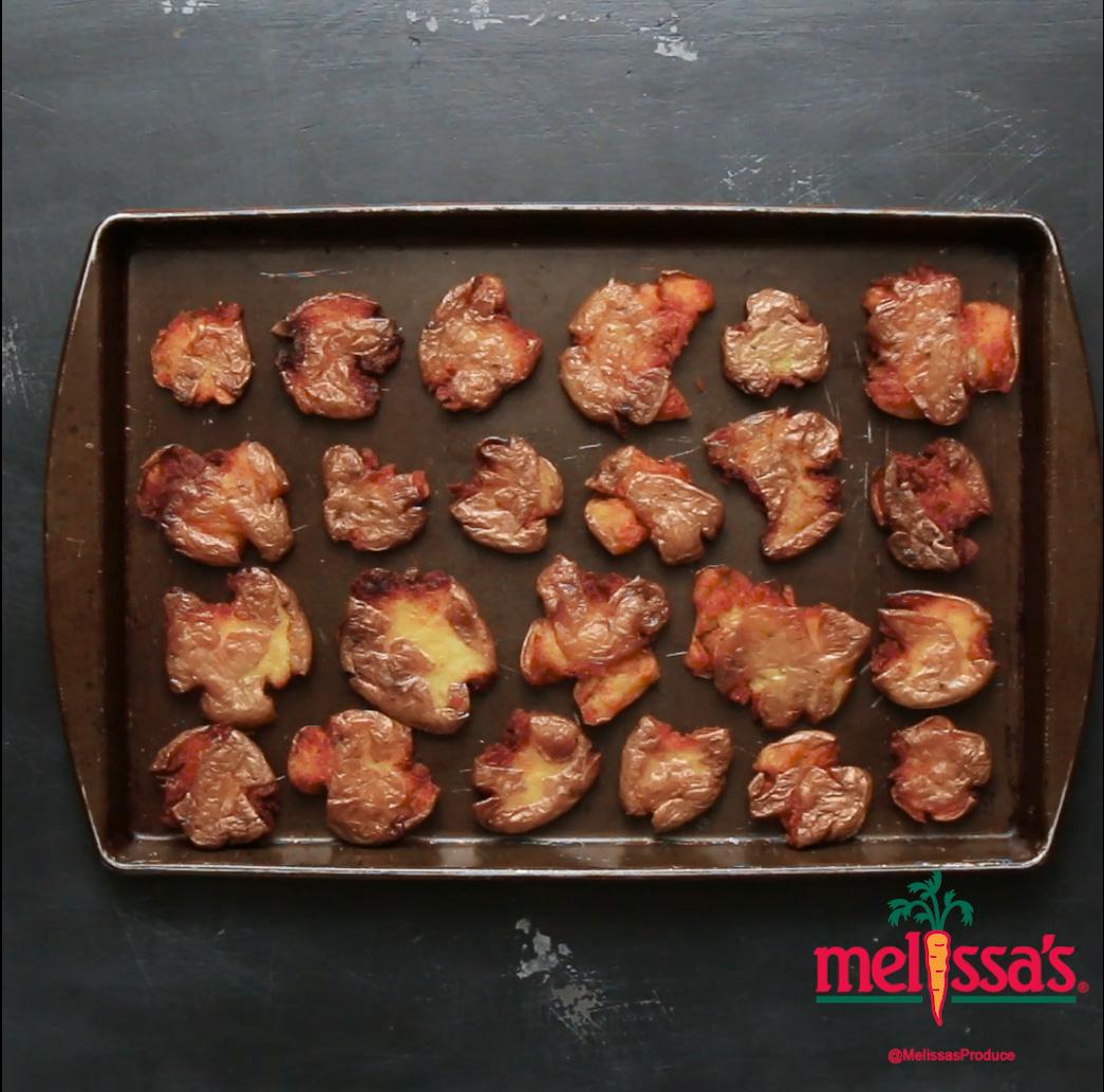 Malt Vinegar Smashed Potatoes