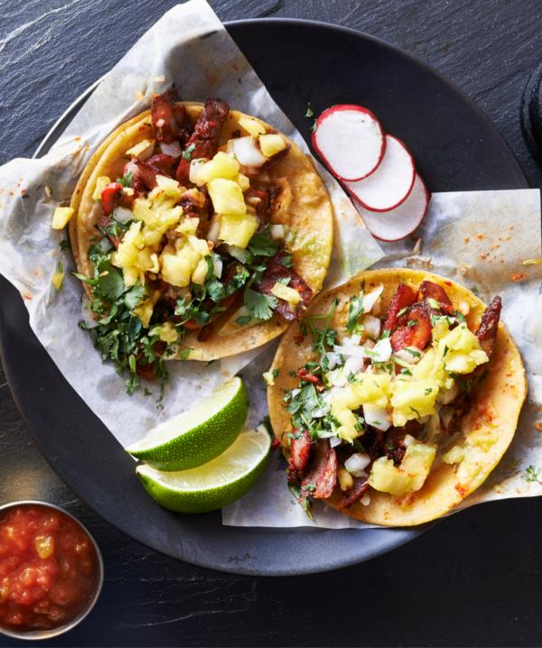 pulled pork breakfast tacos