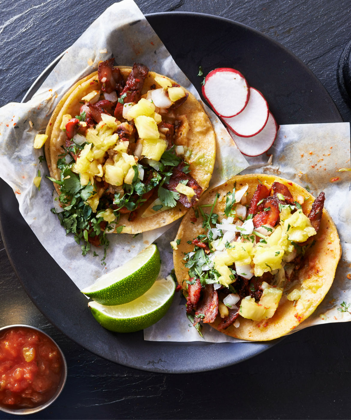 Breakfast Tacos with Hatch Chile Salsa