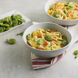 fiddlehead fern pasta