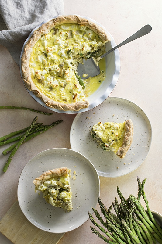 Asparagus and Artichoke Quiche l asparagus and artichoke quiche