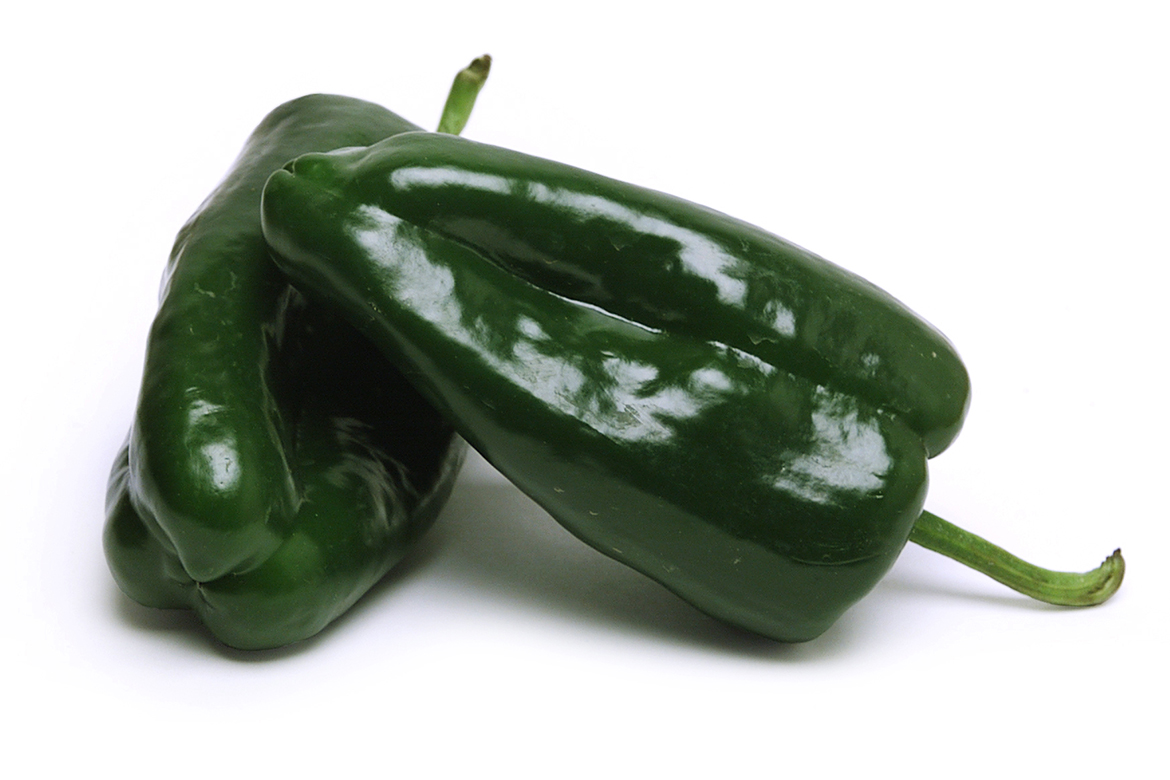 Know Your Chile Peppers: The Ultimate Guide l poblano pasilla chile peppers on white