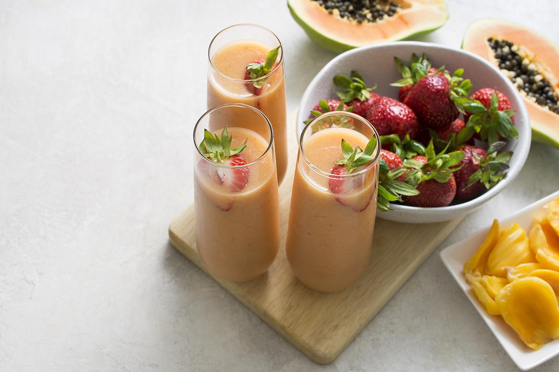 草莓菠萝蜜冰沙冰沙草莓菠萝蜜冰沙