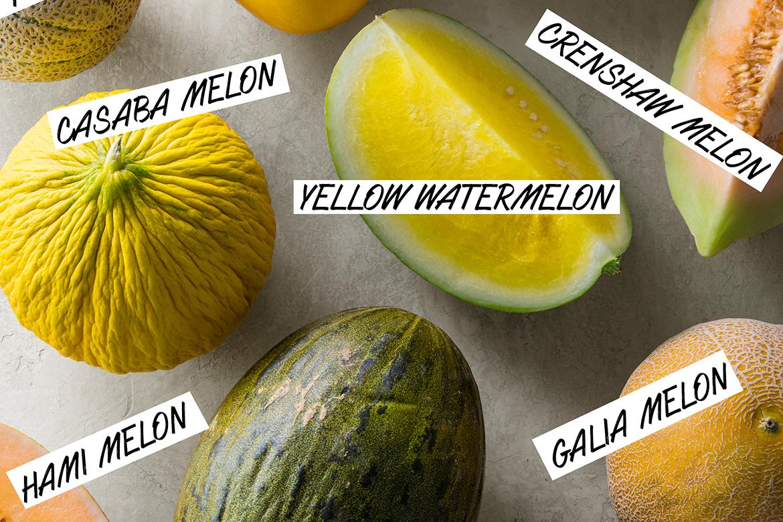 瓜视觉指南|甜瓜品种,Canteloupe,黄色西瓜