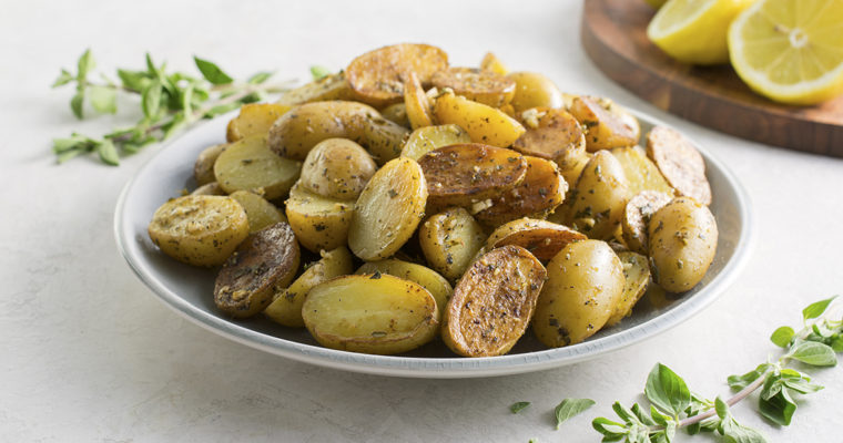 Greek Baby Potatoes with Lemon
