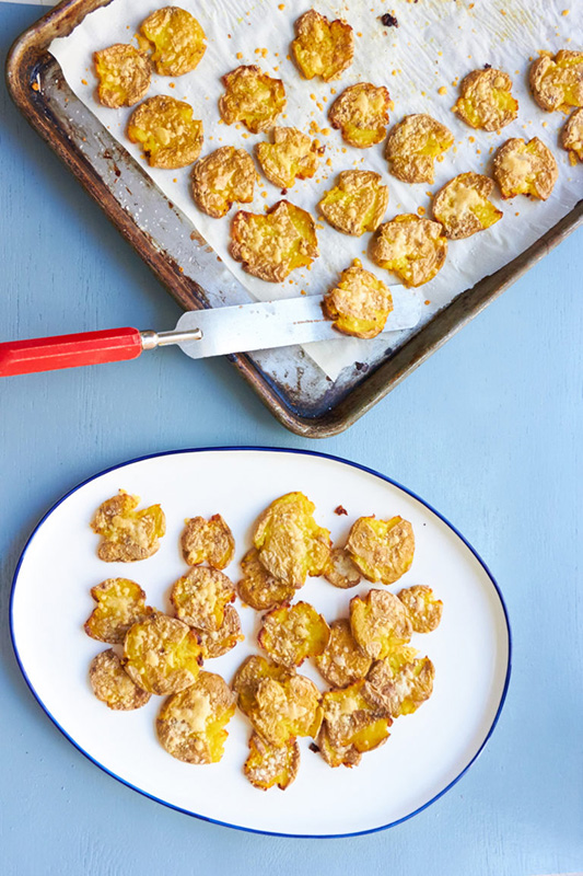 The Ultimate Potato Recipe Roundup l smashed roasted baby potatoes