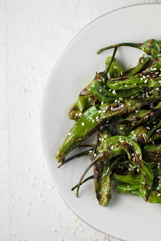 20 Healthy Tailgating Recipes that Score l blistered sesame garlic shishito peppers