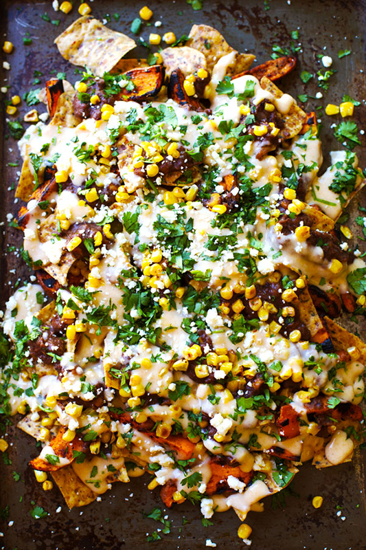 20 Healthy Tailgating Recipes that Score l healthy grilled sweet potato nachos
