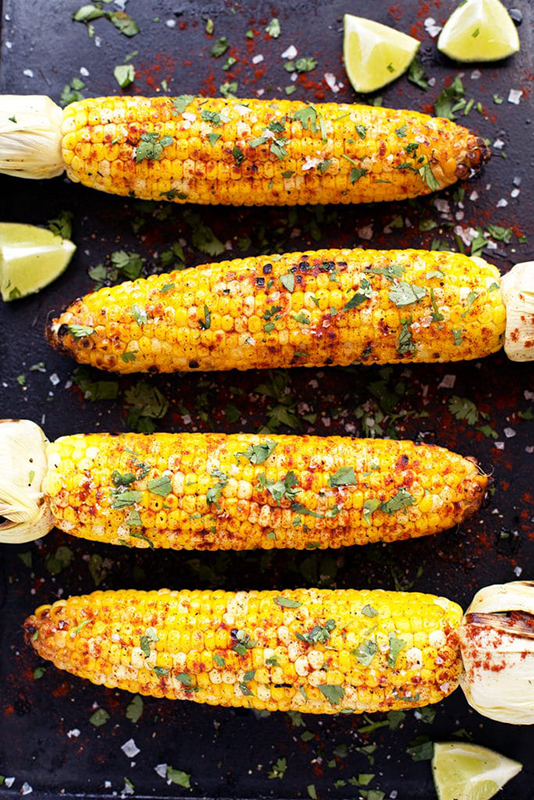 20 Healthy Tailgating Recipes that Score l grilled corn on the cob