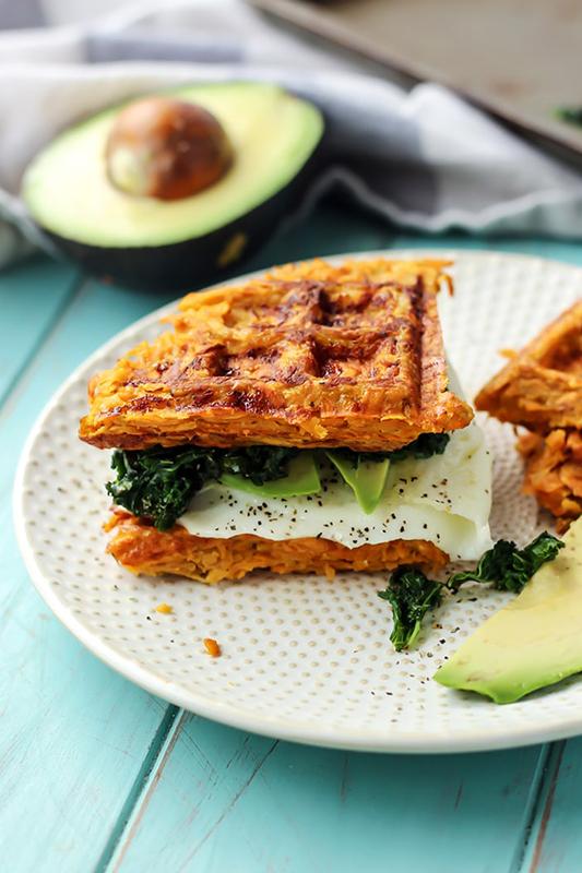 The Best of Whole30 Recipe Roundup l paleo sweet potato waffle breakfast sandwich