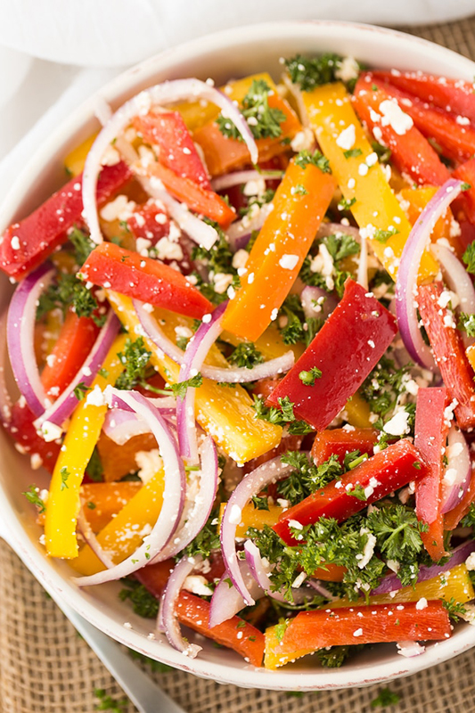 25 delicious ways to spice up National Pepper Month l three pepper salad