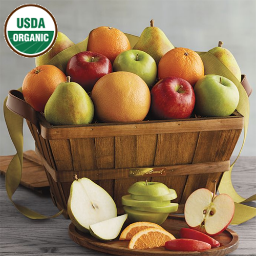 2018 Gift Guide for Food Lovers l organic fruit basket
