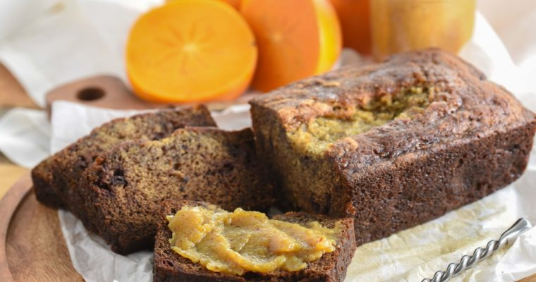 Cinnamon Persimmon Bread with Jelly