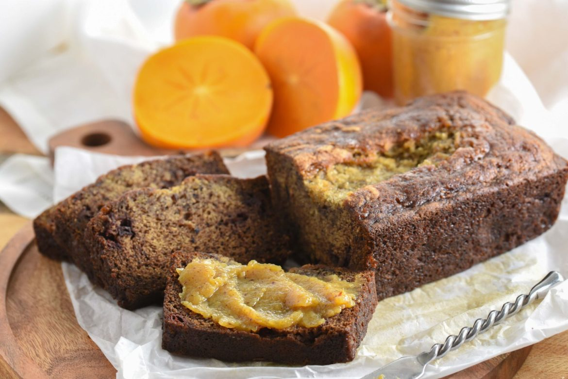 Slice of Cinnamon Persimmon Bread