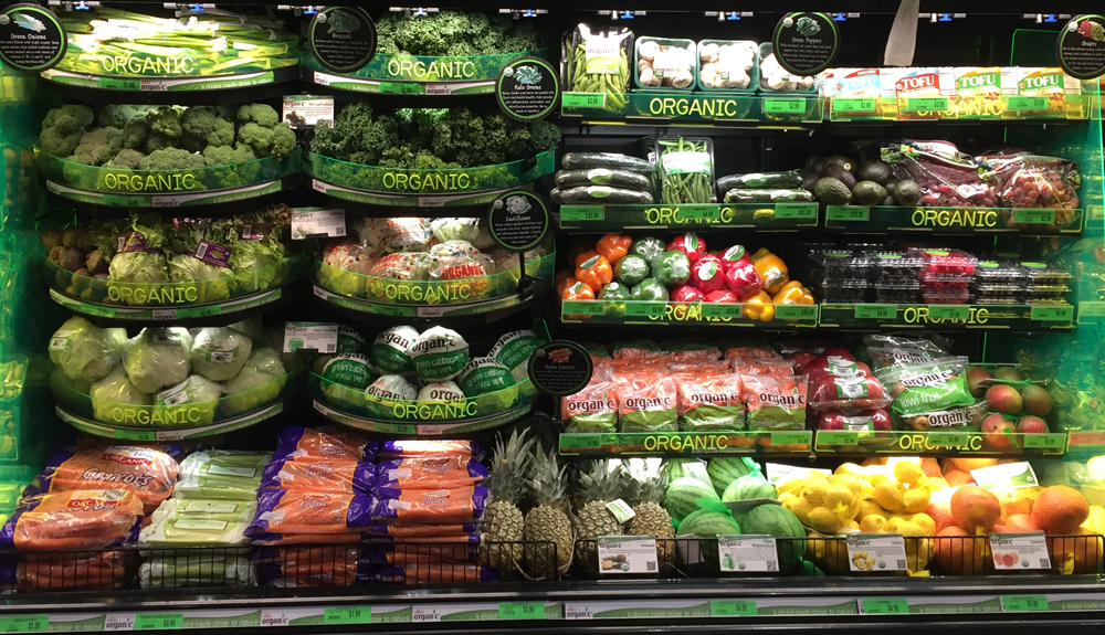 organic merchandising display