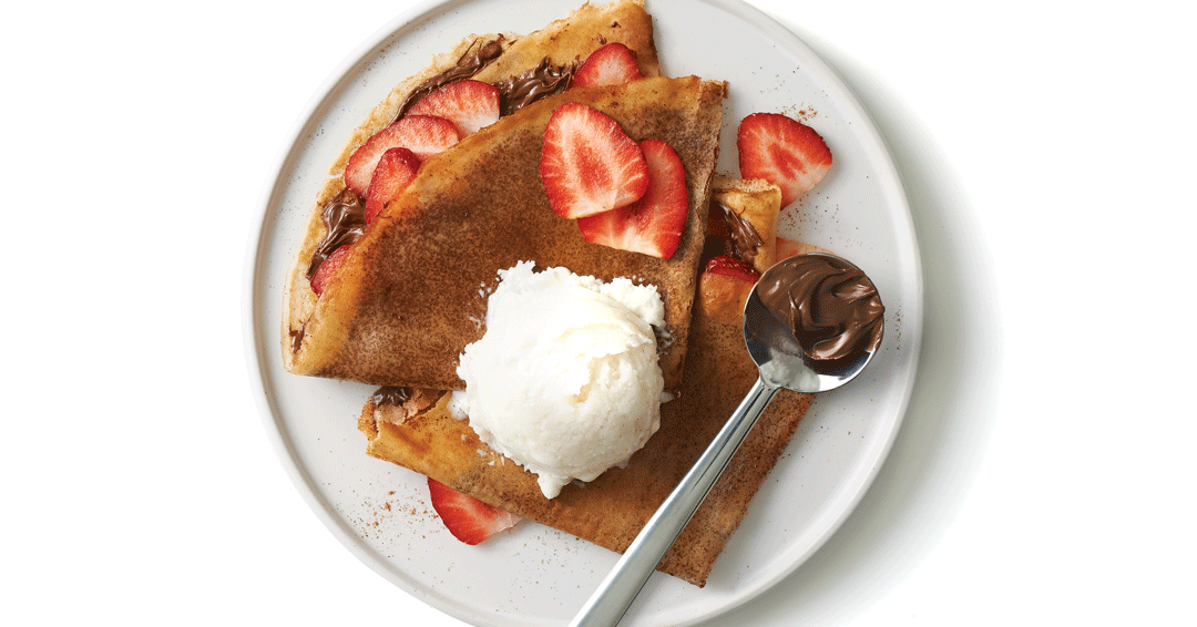 crepes, hazelnut crepes, chocolate crepes, valentines day desserts
