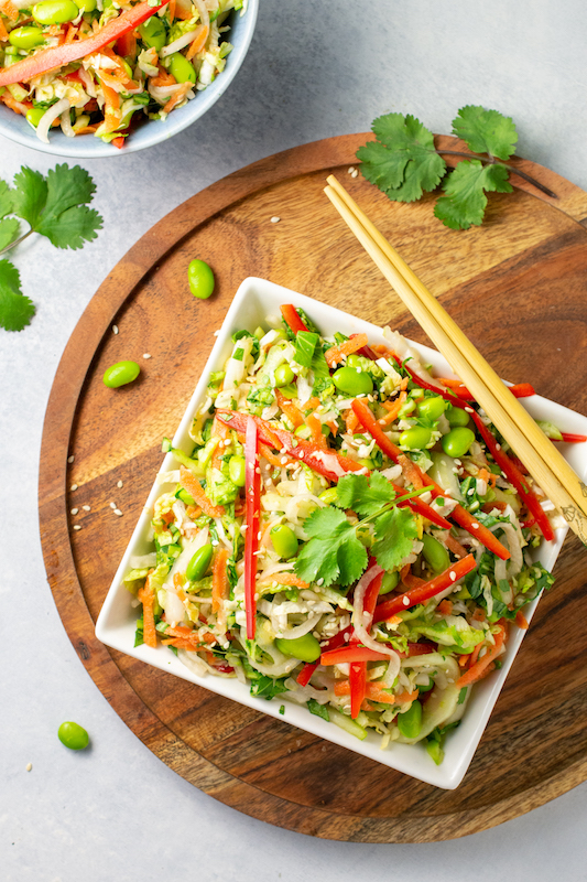 asian essentials, slaw recipe, bok choy recipe, salad recipe