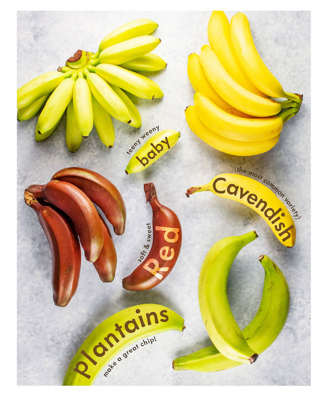 bananas, specialty bananas, visual guide on bananas