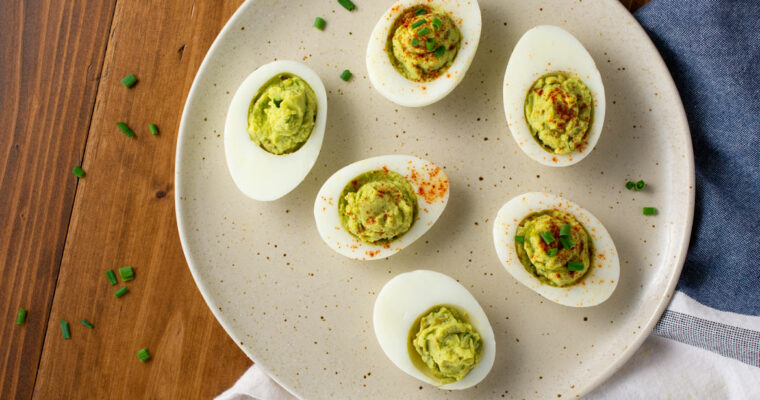How to Make Avocado Deviled Eggs