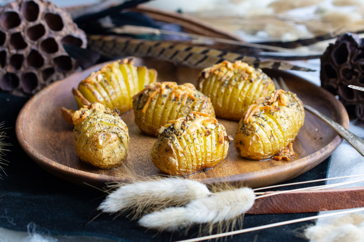 Hasselback Dutch Yellow Potatoes