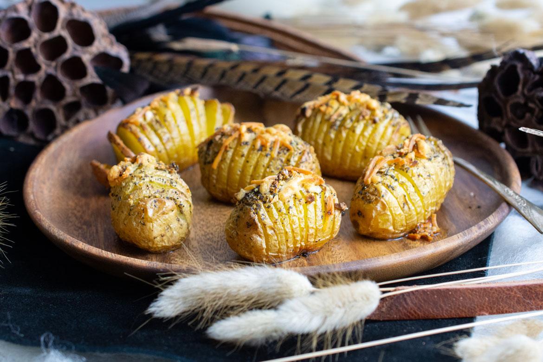 Hasselback Dutch Yellow Potatoes