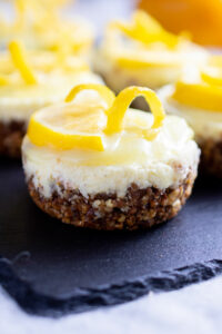 Lemon Mini Cheesecakes
