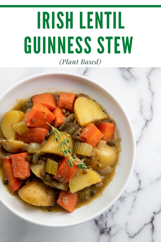 Irish Lentil Guinness Stew
