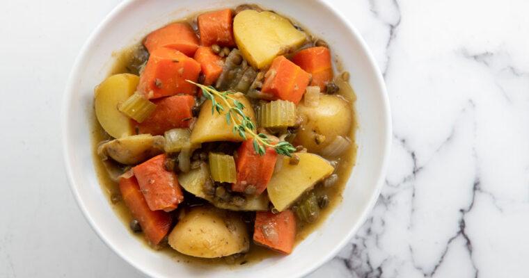Irish Lentil Guinness Stew (Plant-Based)