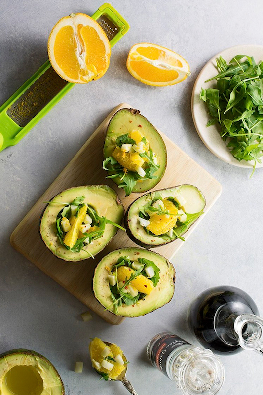 recipe to citrus stuffed avocados, st. patrick's day, st. patty's day, green food, st. patrick's day recipe, citrus, citrus recipes, avocado recipe