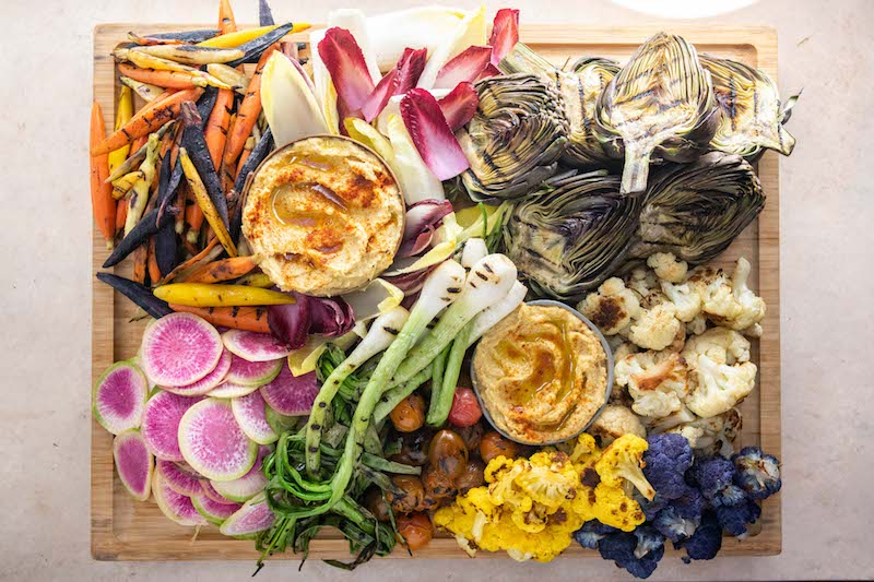 veggie platter, easter recipe, veggies, roasted veggies, grilled veggies