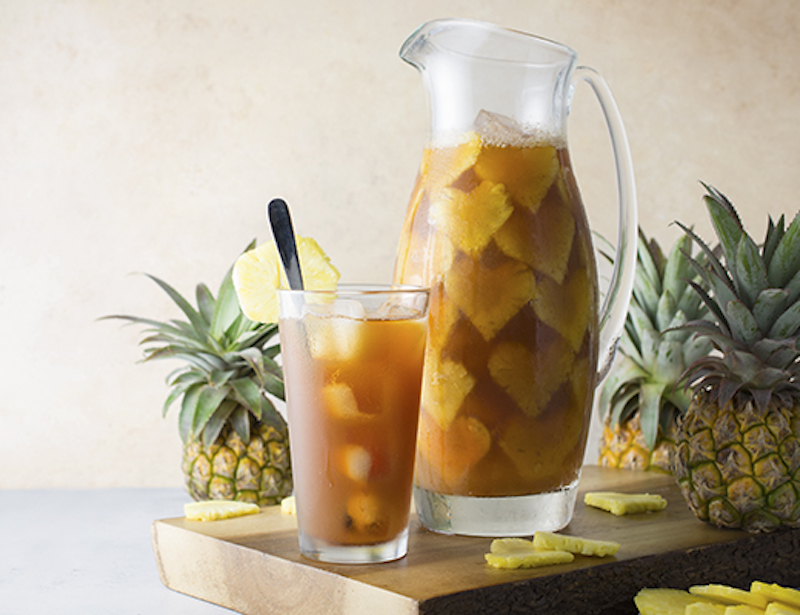 easter recipe, iced tea, pineapple