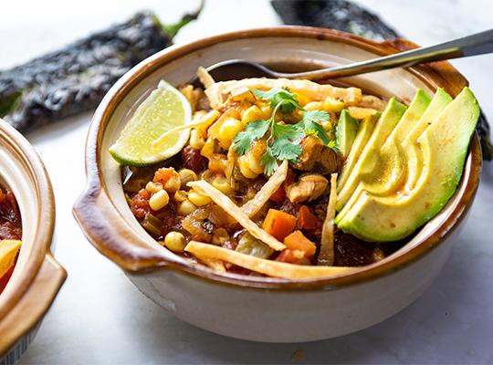 Hatch Pepper Chicken Tortilla Soup