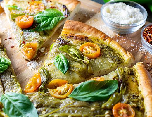 Hatch Pepper-Pepperoni Pizza