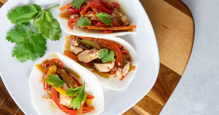 Asian Chicken Jicama Tacos