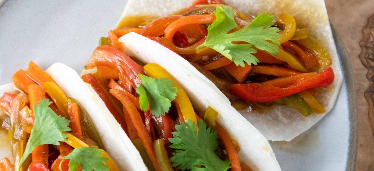 Vegetarian Asian Jicama Tacos