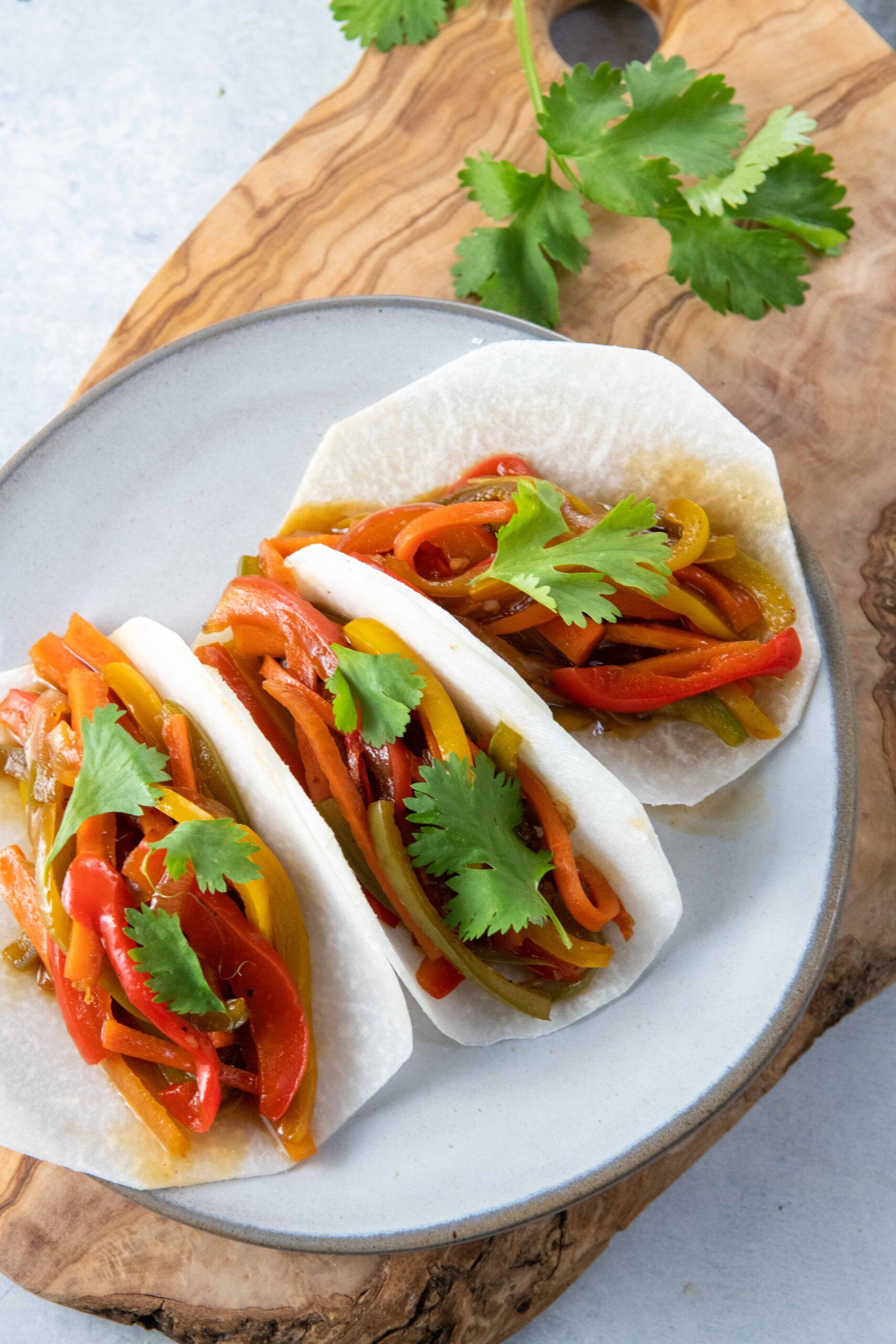 素食亚洲JiCama Tacos-9