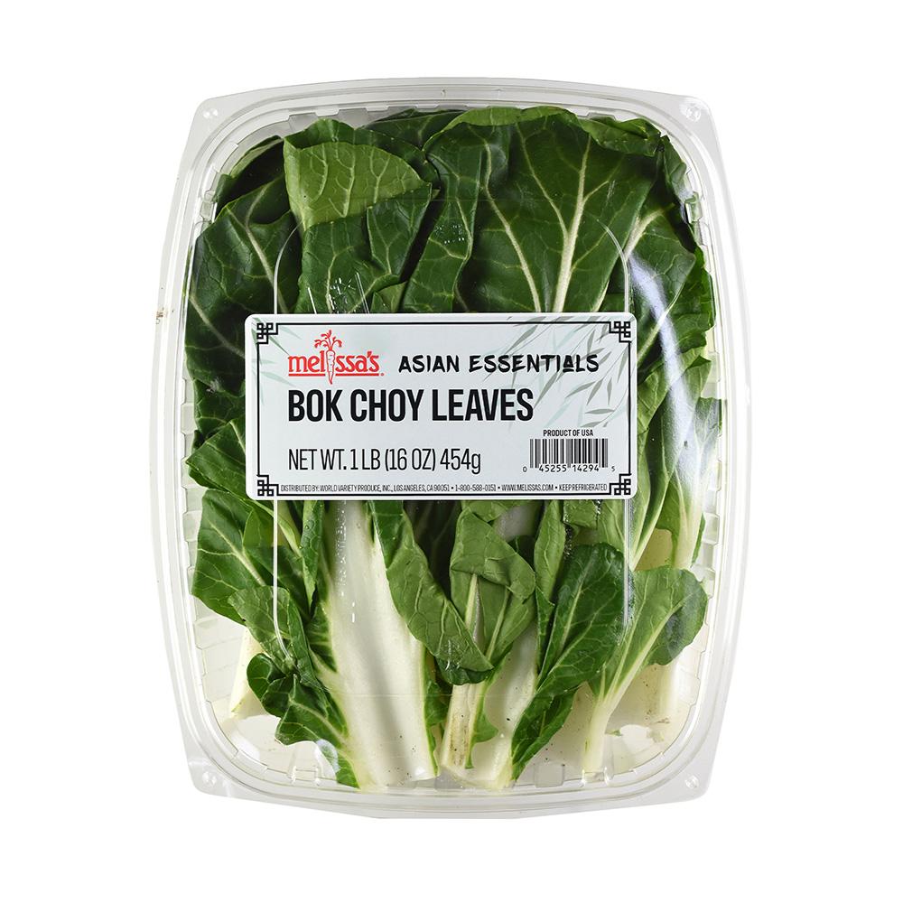 Bok Choy Leaves 16 oz clam