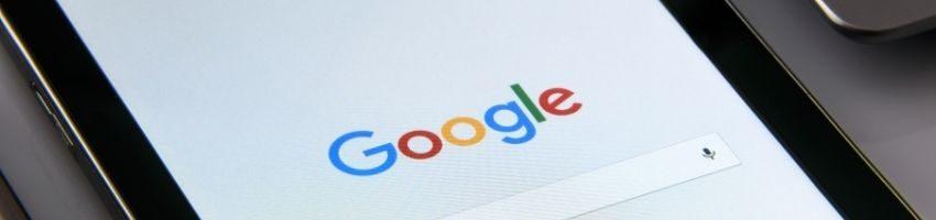 Black Samsung Tablet Displaying Google Browser on Screen