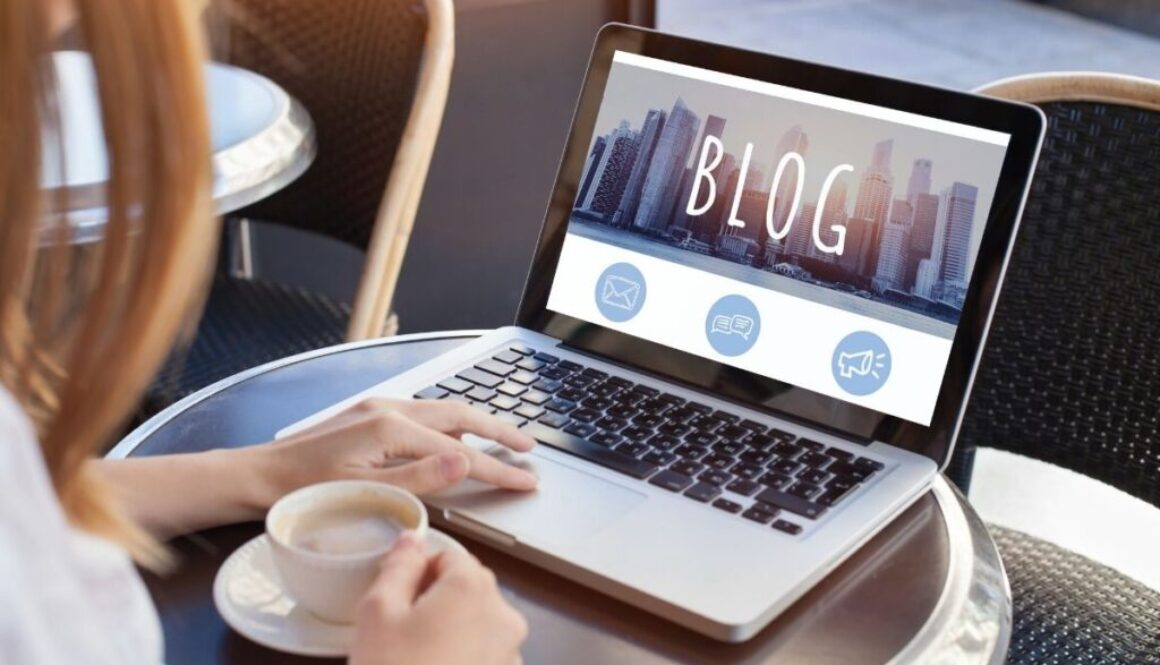 A writer submits their blog to a website.