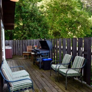 Garden Cabin grill - The Cove at Fairview - Vacation Rentals - Asheville, NC